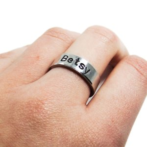 Personalized name ring, 6mm width