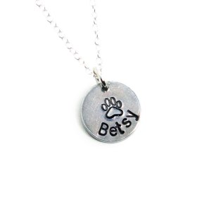 Custom name charm on a sterling silver chain