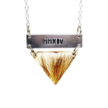 Memorial necklace with personalized charm