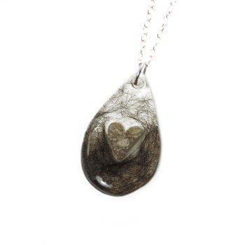 Cremation necklace custom to your loved one's hair and ashes