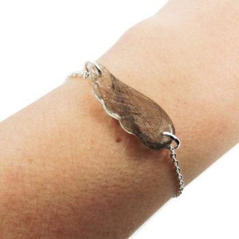 Custom angel wing memorial bracelet