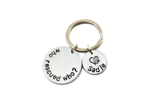 who rescued who keychain