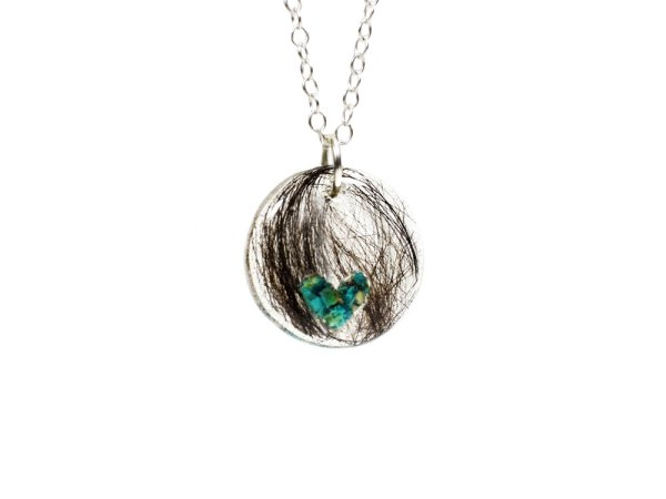 cremation necklace with crystals
