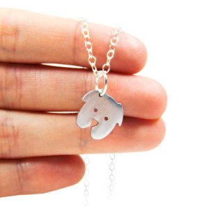 Handmade dog charm necklace