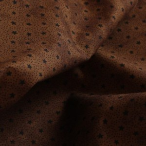 Black Stars on Brown Fabric Material