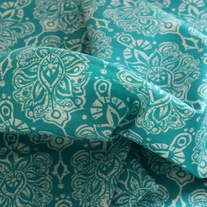 Horizon Floral Medallion Ocean Fabric Material
