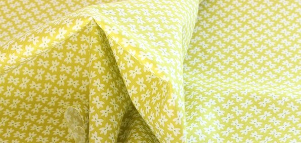 Moda Bows on Green Fabric Material