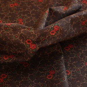 Paisley Park Brown Fabric