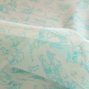 Aqua Childhood Fabric Material