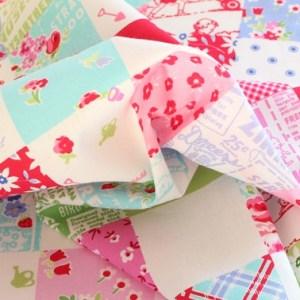 Multi Squares Fabric Material