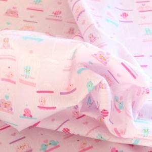 Pink Bird Cage Fabric Material