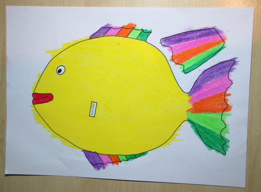 Rainbow Fish Colouring Craft For Kids With Free Printable Template