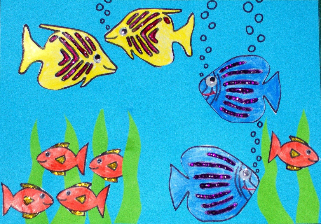 Underwater Fish Scene Craft For Kids