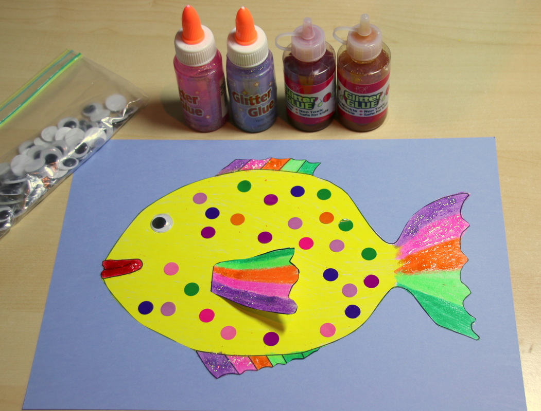 Rainbow Fish Colouring Craft For Kids With Free Printable