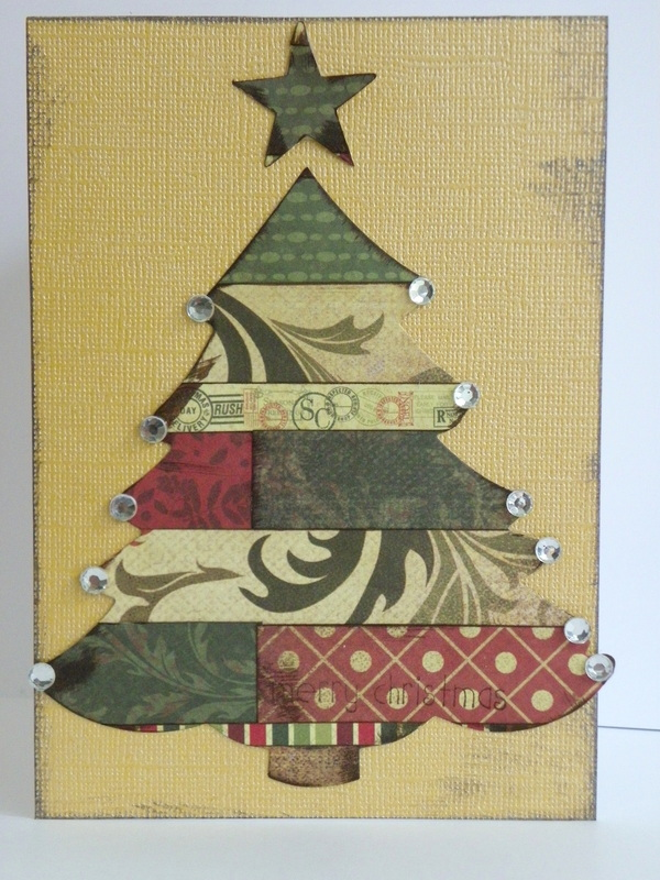 Christmas Tree Cards From Layered Paper
