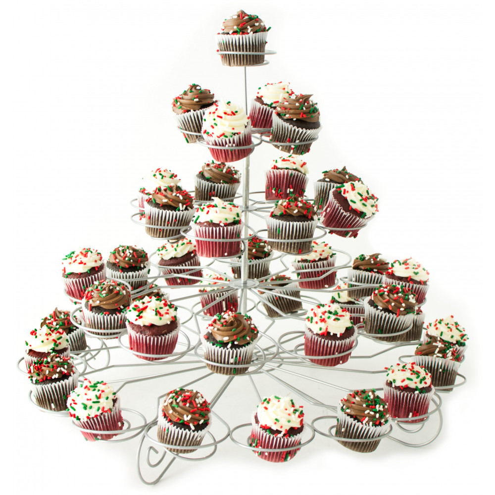 Tiered Wire Mini Cupcake Stand Holds 41 7019 SILVER