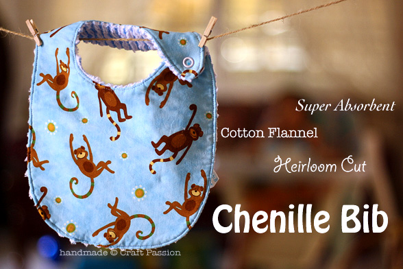 Chenille Bib Free Sewing Pattern Tutorial Craft Passion