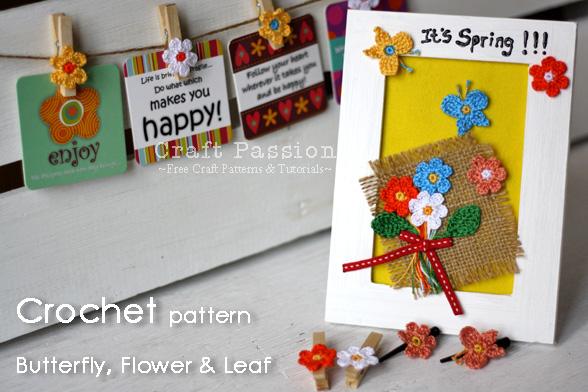 Butterfly Flower Leaf Crochet Pattern Craft Passion