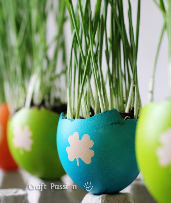 easter egg planters