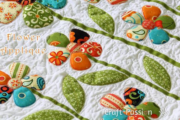 flower applique quilt