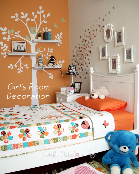 Girl's Bedroom Decoration Ideas - Home Decor | Craft Passion on Beautiful:9Ekmjwucuyu= Girls Room Decoration  id=54169