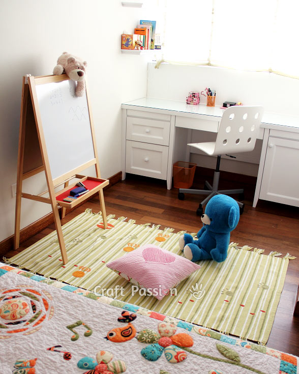 white board black board girl's bedroom decoration ideas