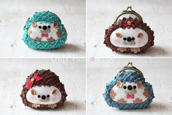 sew hedgehog purses