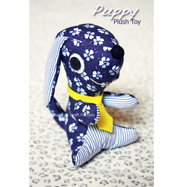 Sewing: Puppy Plush Toy {Tutorial & Pattern}