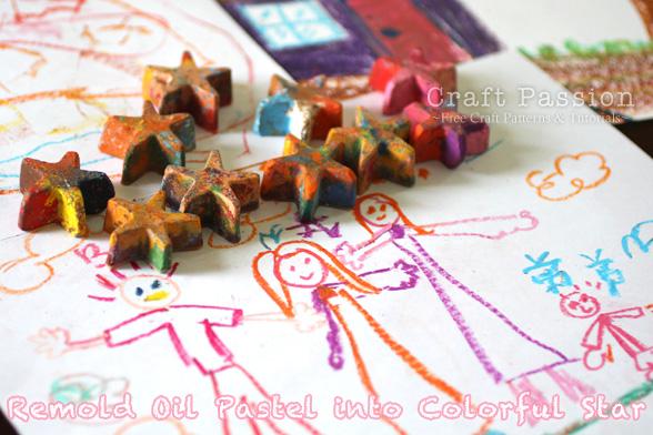 recycle oil pastel crayon