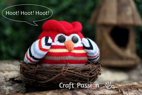 baby sock owl pattern