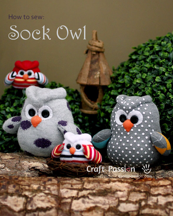 Sock Owl Free Sewing Pattern Tutorial Craft Passion