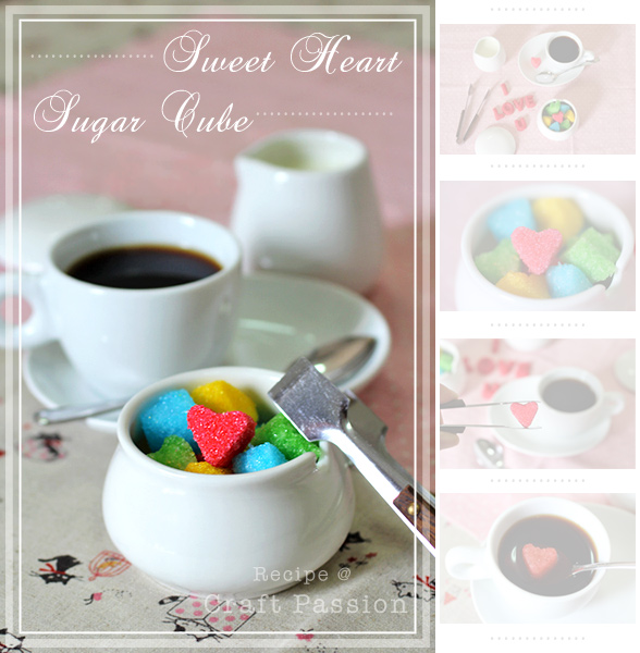 Sweet Heart Sugar Cubes