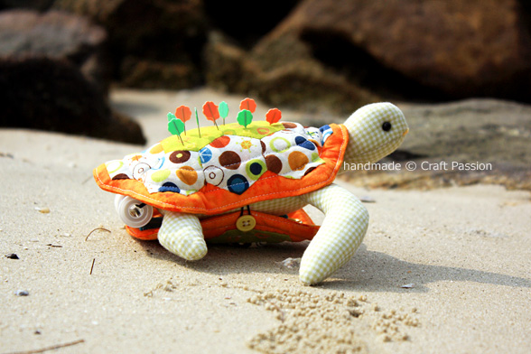 Turtle Pincushion With Compartment