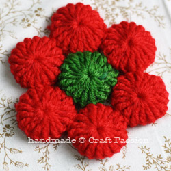 Crochet Poinsettia Drink Coasters