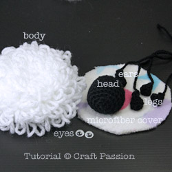 Sheep Amigurumi Parts