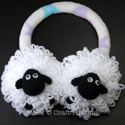 Sheep earmuffs front