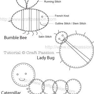 Garden Bug Applique Pattern