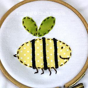 bee garden bugs appliques