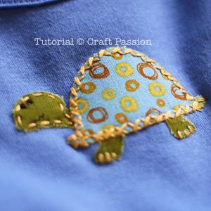 Onesie Applique Tortoise