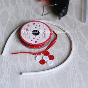Make ribbon headband Material