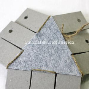 тканые треугольник корзину