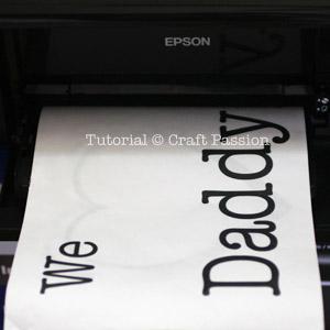 print stencil design on freezer paper
