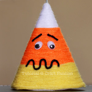 candy corn with expression