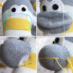 sew sock monkey