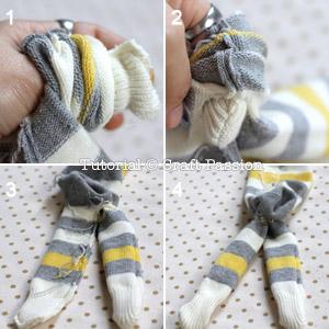 how to turn sock