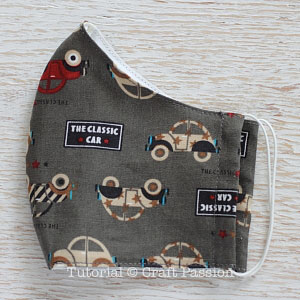face mask with elastic