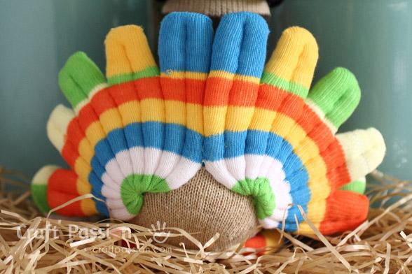 turkey tail sew from toe socks