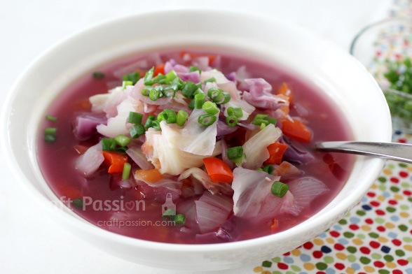 sliming cabbage soup