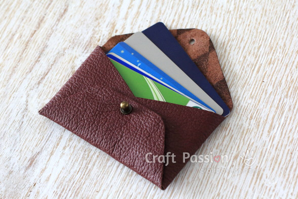 no-sew leather card pouch