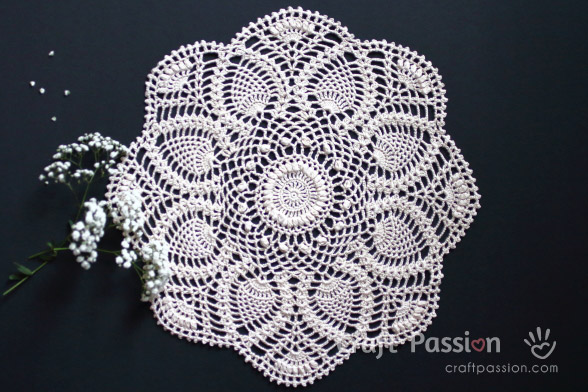 pineapple doily pattern